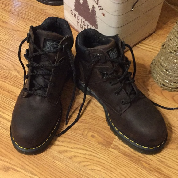 5108d8a3c0a NWOT✨Men's 💯 Leather Dr. Martens Steel Toe Boots